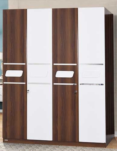 4 Door Wardrobe With High Gloss Finish