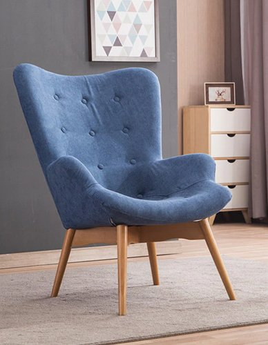 Modern Relaxed Armchair Contour Chair Living Room